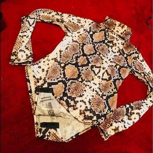 Sweaters - Snake skin bodysuit